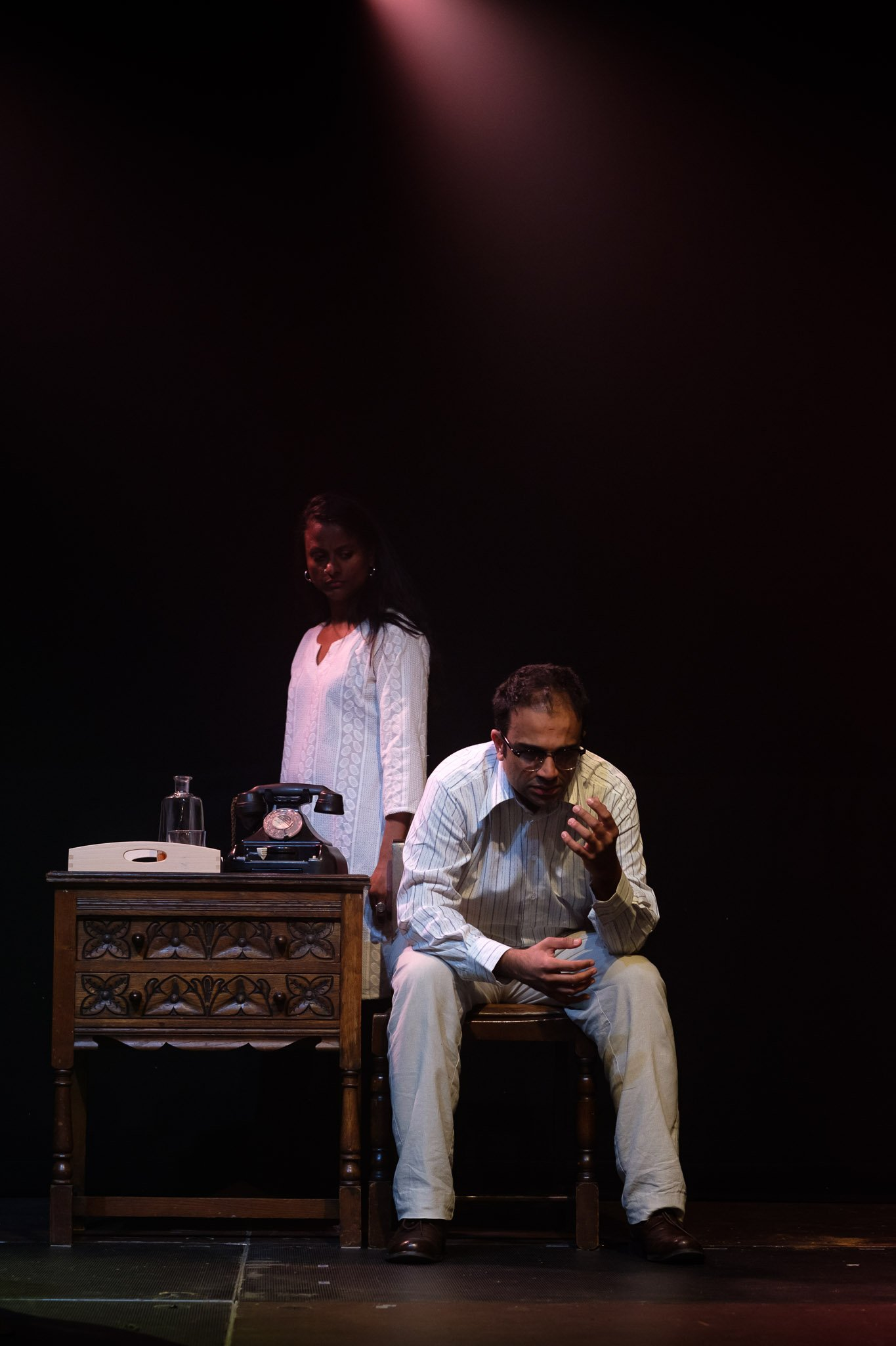Actor's performing on stage at final dress rehearsal Brighton Festival