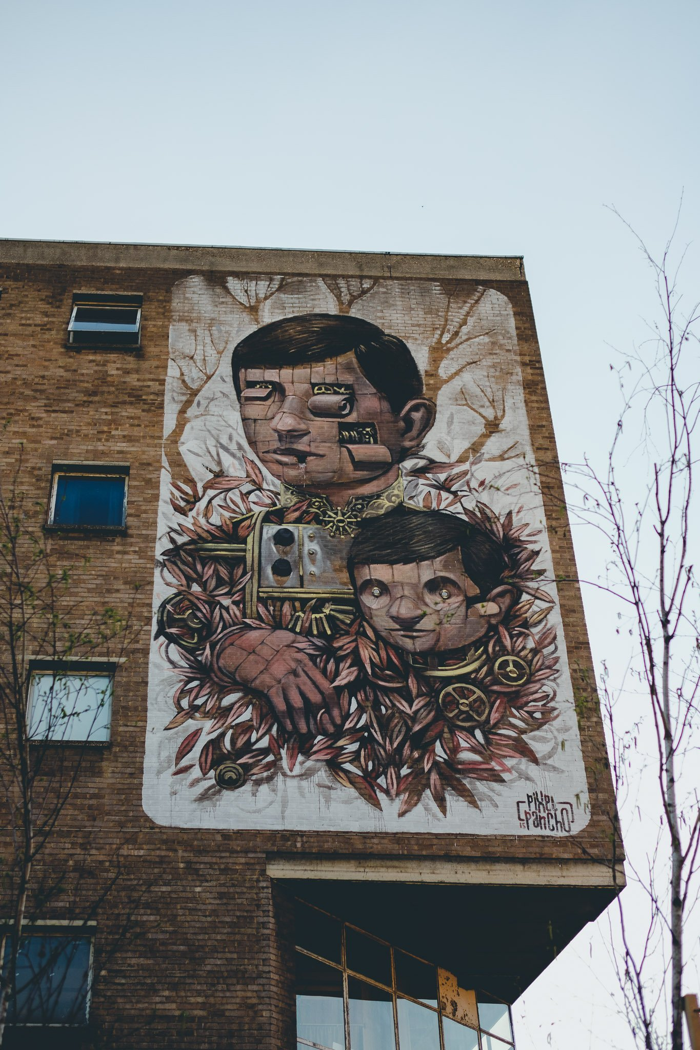 Graffiti art at 40FT Brewery in Dalston London